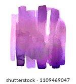 violet stain watercolor splash... | Shutterstock . vector #1109469047