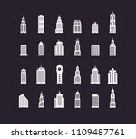building real state icons | Shutterstock .eps vector #1109487761