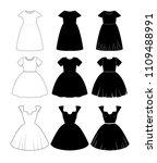 vector dress templates | Shutterstock .eps vector #1109488991