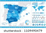 spain map and infographic... | Shutterstock .eps vector #1109490479