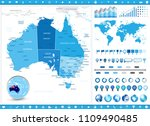 australia map and infographic... | Shutterstock .eps vector #1109490485