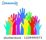 community and social concept... | Shutterstock .eps vector #1109494571