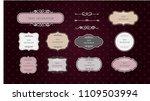 vintage vector set. floral...   Shutterstock .eps vector #1109503994