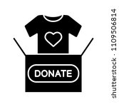 clothes donating glyph icon.... | Shutterstock .eps vector #1109506814