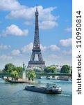 The Eiffel Tower  Seine River...
