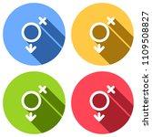 gender symbol. linear symbol....