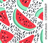 minimal summer trendy vector... | Shutterstock .eps vector #1109508869