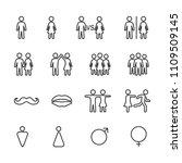 vector image set of men and... | Shutterstock .eps vector #1109509145