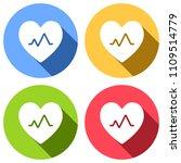 cardiac pulse. heart and pulse...   Shutterstock .eps vector #1109514779
