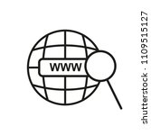 www vector line flat icon url.... | Shutterstock .eps vector #1109515127