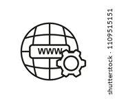 www vector line flat icon url.... | Shutterstock .eps vector #1109515151