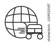 shop cart flat vector thin line ...   Shutterstock .eps vector #1109515187
