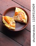 homemade pizza on a clay plate  ... | Shutterstock . vector #1109515409