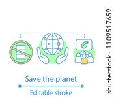planet saving concept icon.... | Shutterstock .eps vector #1109517659