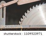 a sharp sharp saw for wood. | Shutterstock . vector #1109523971