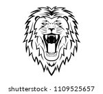 lion head hand drawing animal... | Shutterstock .eps vector #1109525657