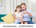 portrait of caucasian father... | Shutterstock . vector #1109529641