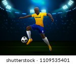 soccer player with field... | Shutterstock .eps vector #1109535401