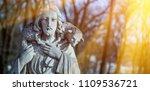 ancient statue of jesus christ... | Shutterstock . vector #1109536721