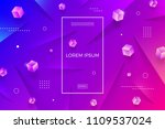 abstract vector multicolored... | Shutterstock .eps vector #1109537024