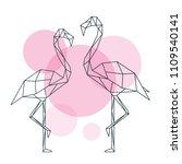 beautiful flamingo illustration ...   Shutterstock .eps vector #1109540141