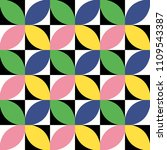 colorful geometric seamless... | Shutterstock .eps vector #1109543387