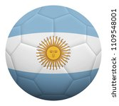realistic isolated 3d soccer...   Shutterstock .eps vector #1109548001