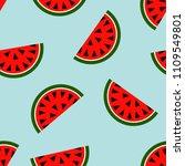 seamless watermelon geometric...   Shutterstock .eps vector #1109549801