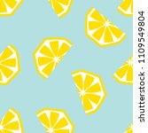 seamless lemon geometric... | Shutterstock .eps vector #1109549804