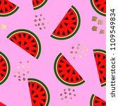 seamless watermelon geometric...   Shutterstock .eps vector #1109549834