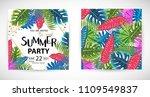 trendy tropic pattern cover....   Shutterstock .eps vector #1109549837