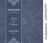 save the date invitation card... | Shutterstock .eps vector #1109553797