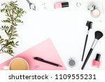 beauty and fashion blog or... | Shutterstock . vector #1109555231