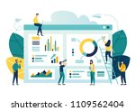 vector illustration of business ... | Shutterstock .eps vector #1109562404