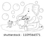 cute and funny cartoon... | Shutterstock . vector #1109566571