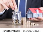 save money to buy a house... | Shutterstock . vector #1109570561