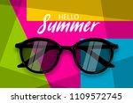 hello summer time. vector pop... | Shutterstock .eps vector #1109572745