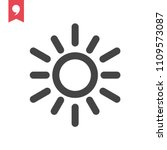 sun vector icon | Shutterstock .eps vector #1109573087