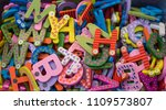 colorful alphabet letter icons... | Shutterstock . vector #1109573807