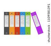 folders file order realistic... | Shutterstock .eps vector #1109581391