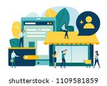 vector illustration  flat style ... | Shutterstock .eps vector #1109581859