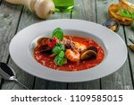 excellent soup made of tomato... | Shutterstock . vector #1109585015