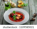 delicious italian tomato... | Shutterstock . vector #1109585021