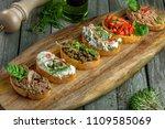 delicious italian antipasti... | Shutterstock . vector #1109585069