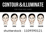 contouring   illuminate makeup... | Shutterstock .eps vector #1109590121
