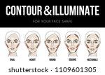 contouring   illuminate makeup... | Shutterstock .eps vector #1109601305