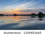 sunset in the danube delta ... | Shutterstock . vector #1109601665