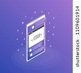 mobile web development concept  ... | Shutterstock .eps vector #1109601914