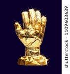 vector golden glove...   Shutterstock .eps vector #1109603639