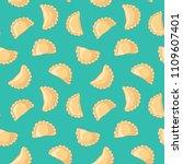 dumplings  pierogi  varenyky ... | Shutterstock .eps vector #1109607401